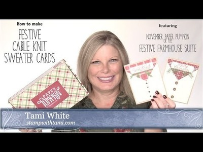 How to make a festive cable knit sweater card alternate from November Paper Pumpkin Stampin Up