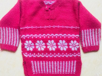 How to make a flower on your sweater  ( part-2)