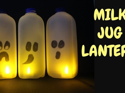 How to Make a Milk Jug Ghost Lantern | Halloween Crafts for Kids