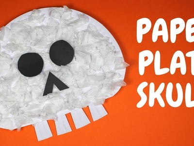 How to Make a Paper Plate Skull | Halloween Crafts for Toddlers