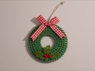 How to make a plastic canvas Christmas Tree Wreath Decoration
