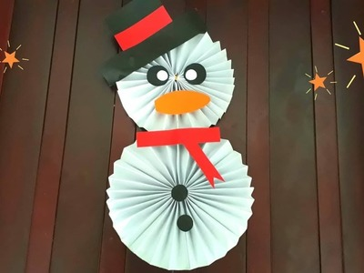 How to Make a snowman Paper - Christmas Decoration
