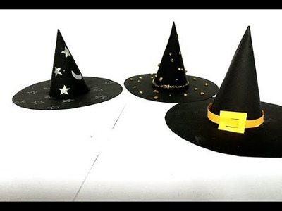How To Make A Witch's Hat With Paper on the Halloween | Easy Diy craft Halloween | Art For Kids