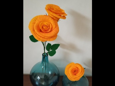 How to make Beautiful crepe paper Rose