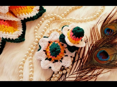 How to make Beautiful Lily Flower Dress matching Cap and Dori for Kanha ji. Laddo Gopal. Bal Gopal