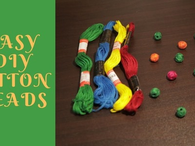 How to Make Cotton Beads | Easy  | Updated || Ananya Mondal