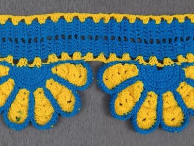How to make Door Hanging Toran from Woolen    Handmade Door Hanging Toran    Woolen crochet Pattern