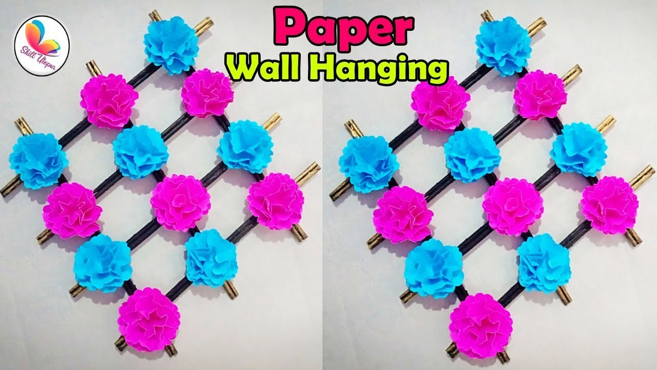 How To Make Easy paper flower wall hanging. home decor paper craft. origami wall hanging