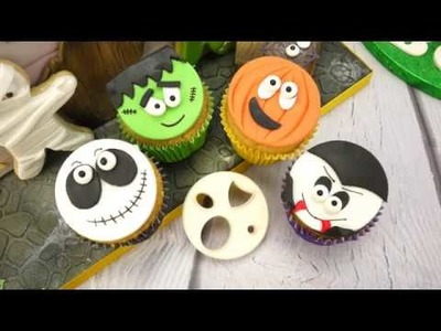 How To Make Halloween Faces Cupcakes