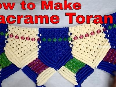 How to Make Macrame Toran