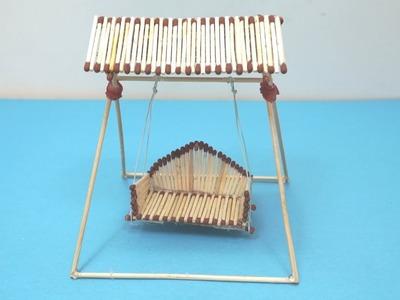 How To Make Matchstick Miniature Swing | Matchstick Art and Craft Ideas