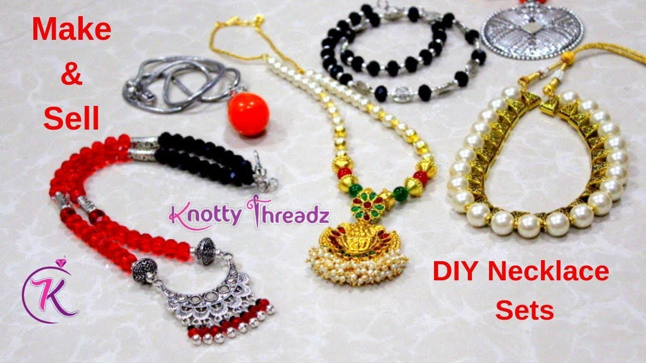 How to make Oxidized Necklace Sets   Make and Sell   Easy Way to Earn Money   Knotty Threadz