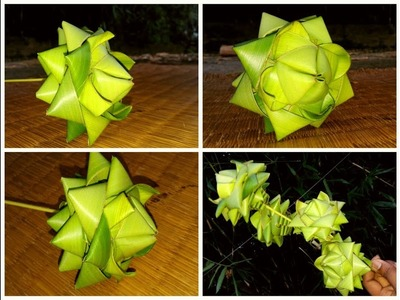 How to make palm beautiful lotus (coconut tree leaf)