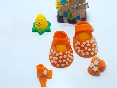 How to Make Play Doh babies set Shoes Scarf, gloves Creative for kids