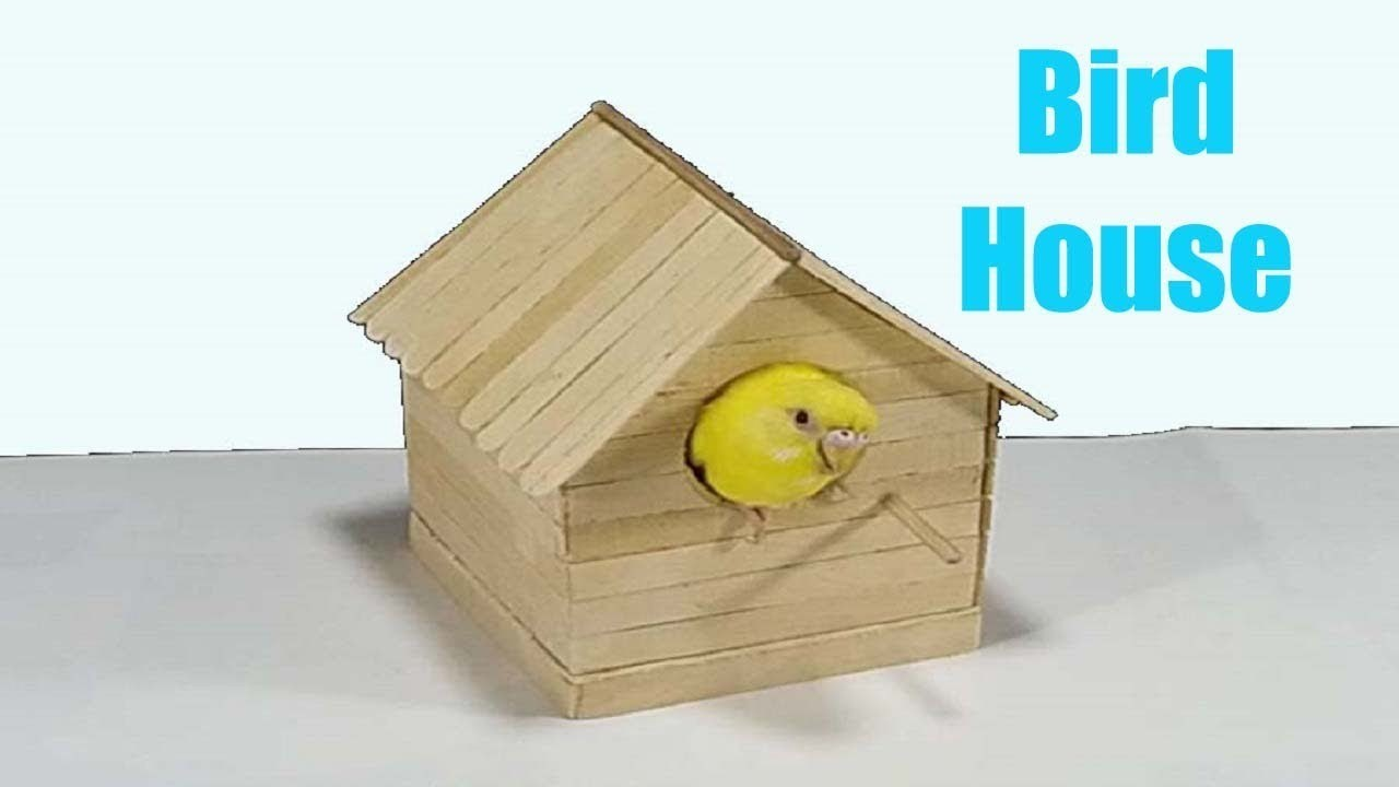 How To Make Popsicle Stick House For Bird