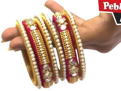 How To Make Silk Thread Bangles in English - Bridal Bangles Making at Home- Designer Bangle