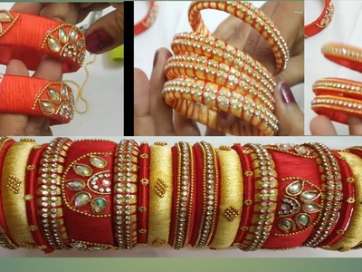 HOW TO MAKE SILK THREAD BANGLES