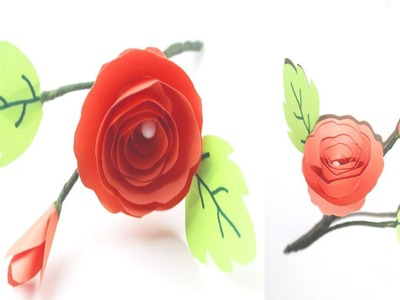 How To Make Small Paper Rose Flower  |  Rose Paper Craft Ideas Using paper | DIY Paper Flower