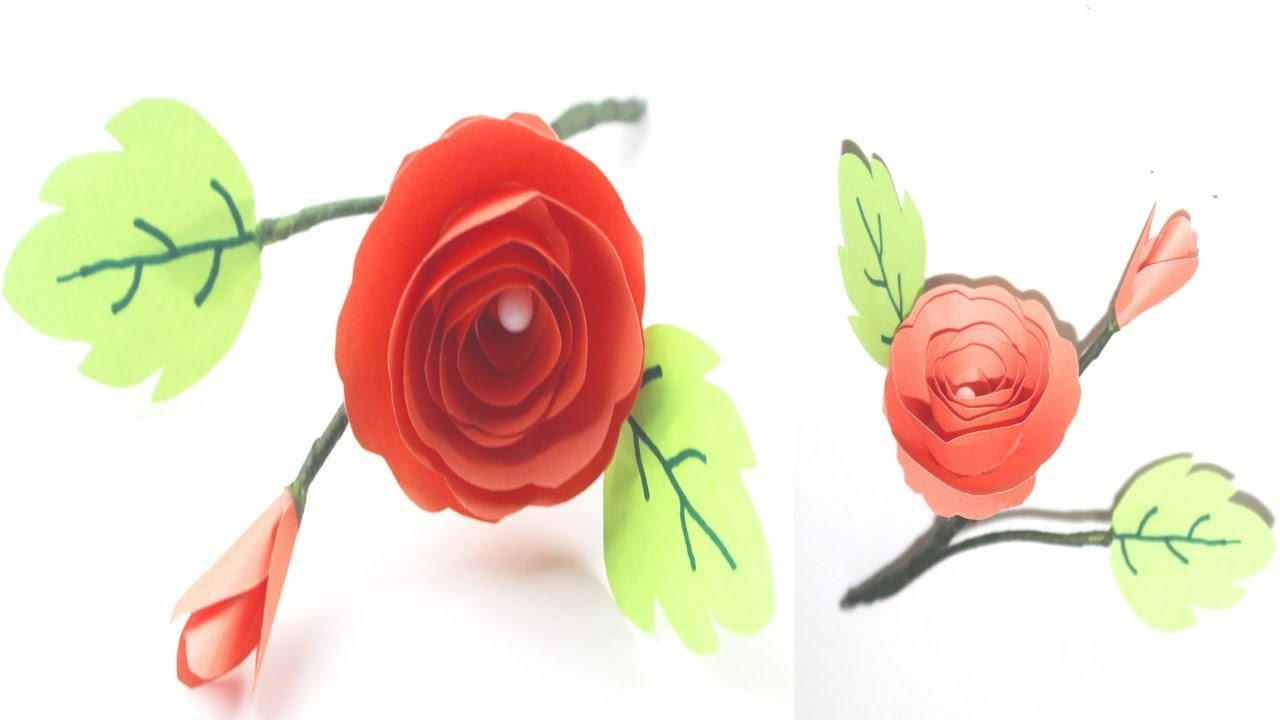 How To Make Small Paper Rose Flower Rose Paper Craft Ideas Using