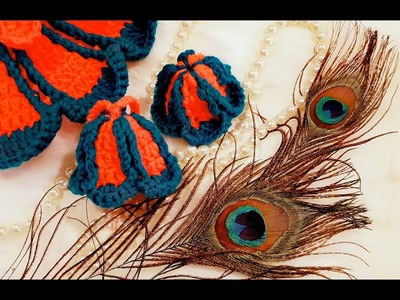 How to Make Vibrant Flower Dress matching Cap (टोपी) and Dori for Kanhaji. BalGopal. laddu Gopal