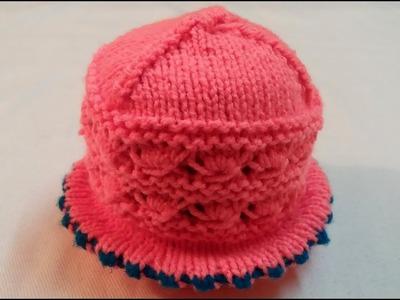 How to make Woolen Cap.  Topi  design