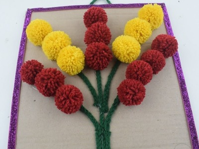 How To Make Woolen Wall Hanging For Home Decor | Wall Hanging Toran DIY