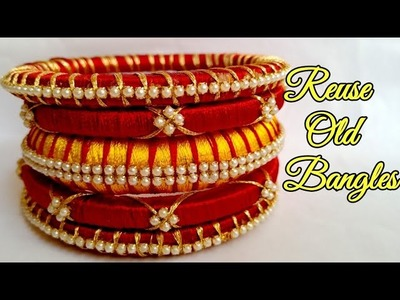 How to reuse old bangles. silk threads bangles design