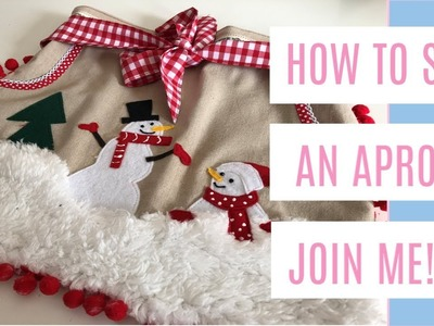 HOW TO SEW A CHRISTMAS APRON; final part, sewing with kids, ideas