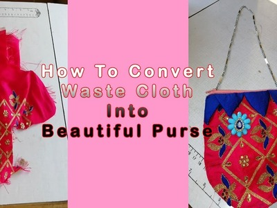 How To Sew Beautiful Purse For Children At Home || How to Make Children Purse With Waste Cloth