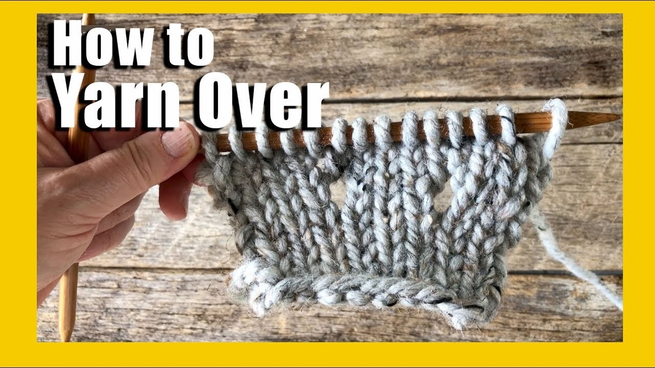How to YO in Knitting | How to knit | How to do a yarn over in knitting