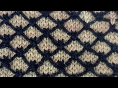 Knitting design in two colours. knitting pattern in hindi with english subtitles-33#YouTube