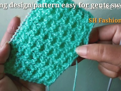 Knitting design.pattern for gents half and full sweater in Hindi ( English subtitles)
