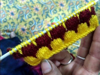 Knitting pattern #7 - full tutorial in hindi ft. Madhu The Knitter | woolen sweater designs
