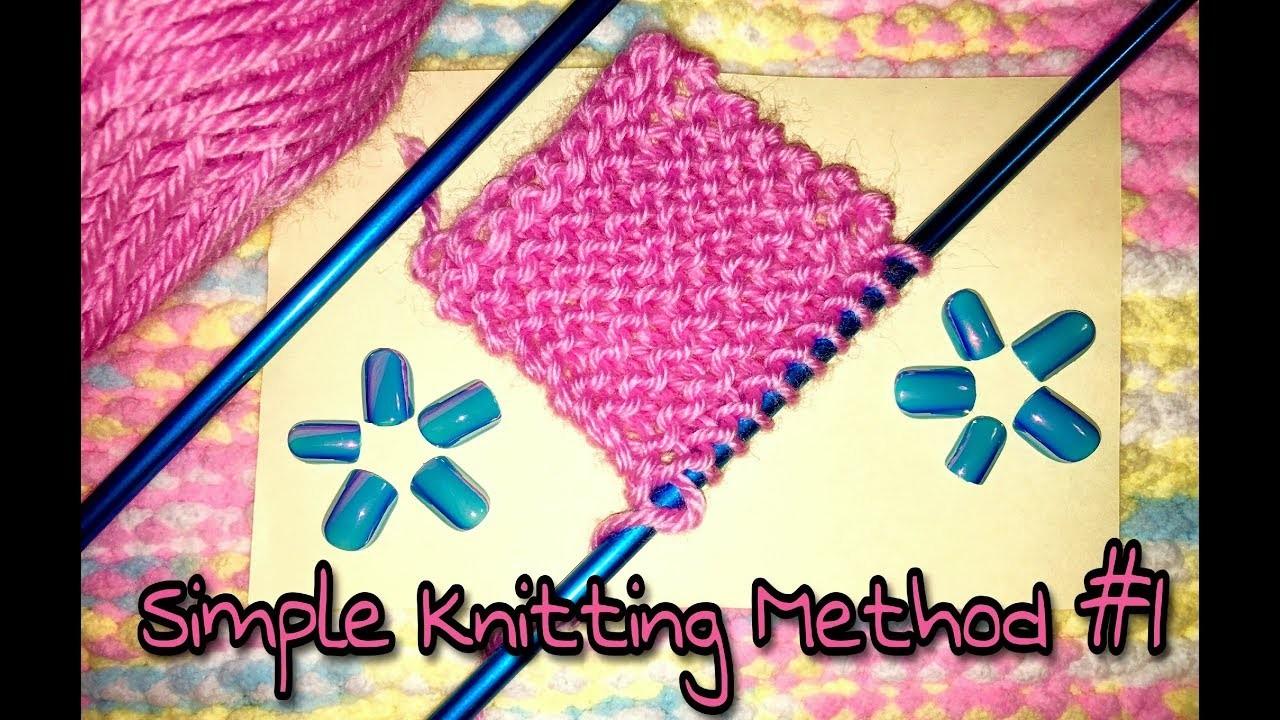 Knitting Tutorial #1: Beginners Level Pattern