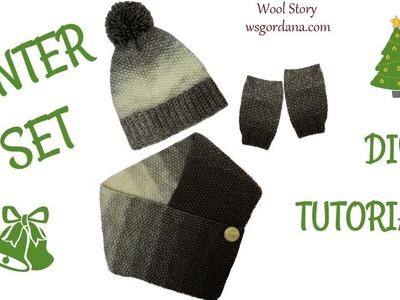 Knitting Tutorial Winter Set Cowl and Gloves - Part 2 (Zimski set)