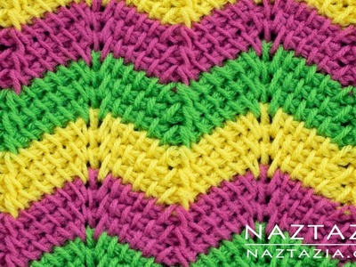 Learn How to Crochet Tunisian Ripple Stitch Pattern - Stitchorama by Naztazia