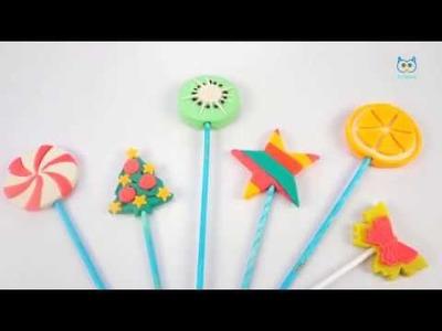 Lollipops Set How to Make Play Doh Lollipop * Learn Color