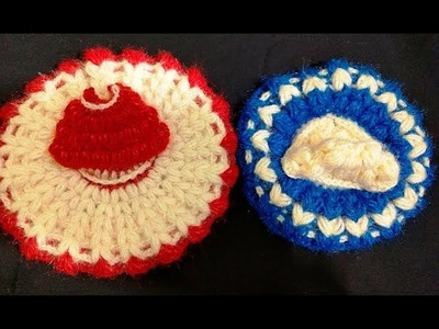 Make Easy Puff Stitch Crochet Woolen Poshak.  Beginner Level Sample Poshak Is For 4 No Kanhaji