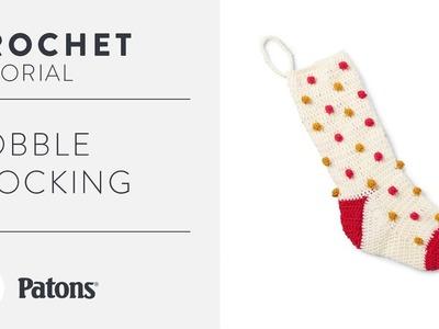 Modern Crochet Bobble Stocking Tutorial