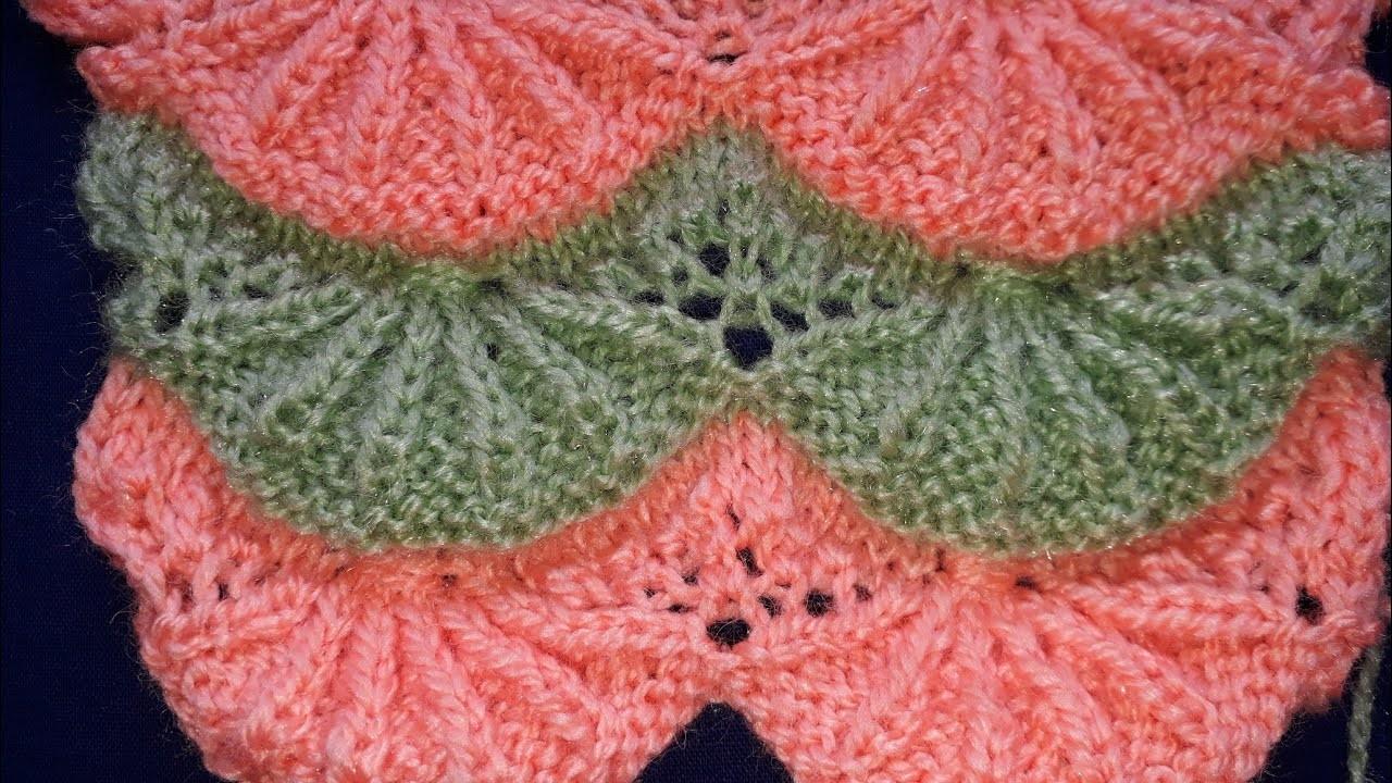 New knitting design|two colour design|new knitting pattern|ladies cardigan design
