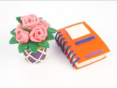 Play-Doh How to Make a Rose Flower Basket * Color Book * Learn Color