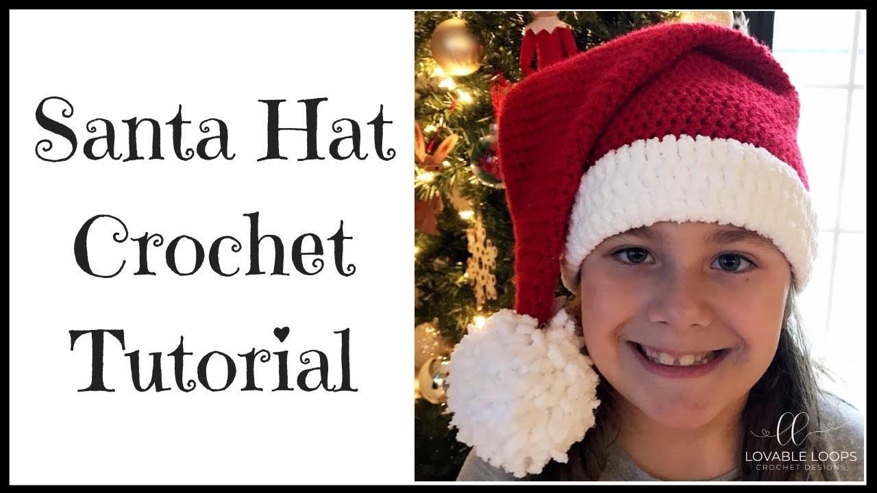 Santa Hat Crochet Tutorial | How to Crochet a Santa Hat | Santa Hat Pattern