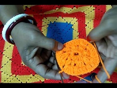 Simple Crochet Design- How To Crochet A Granny Square Ason Design.