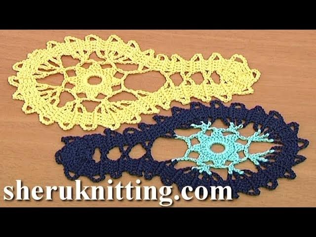 Simple Crochet Motif Tutorial 9 Part 1 of 2 Bruges Lace