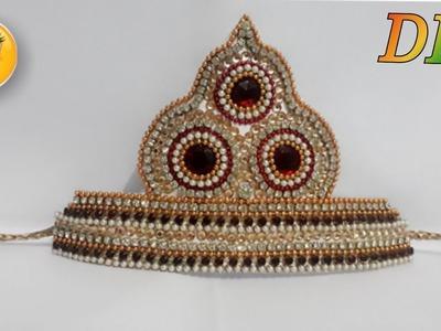 Simple mukut. Laddu gopal mukut making. mukut making. mukut. how to make mukut for krishna