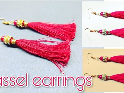 Tassel earrings||how to make tassel earrings||silk thread earrings