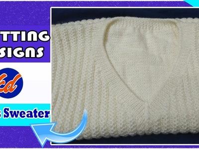 जेंट्स स्वेटर का डिज़ाइन.New Beautiful Knitting pattern Design 2018