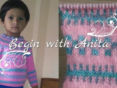 Tutorial 36- sweater knitting design. knitting Design in hindi