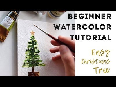 Watercolor for Beginners - How to Paint a Christmas Tree