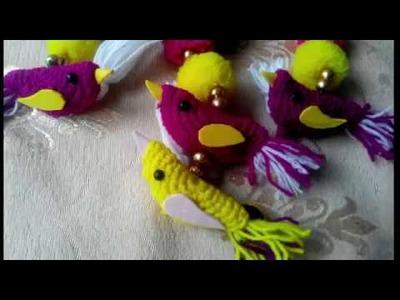 Wow!!! Beautiful birds.how to crochet beautiful birds.very easy to making